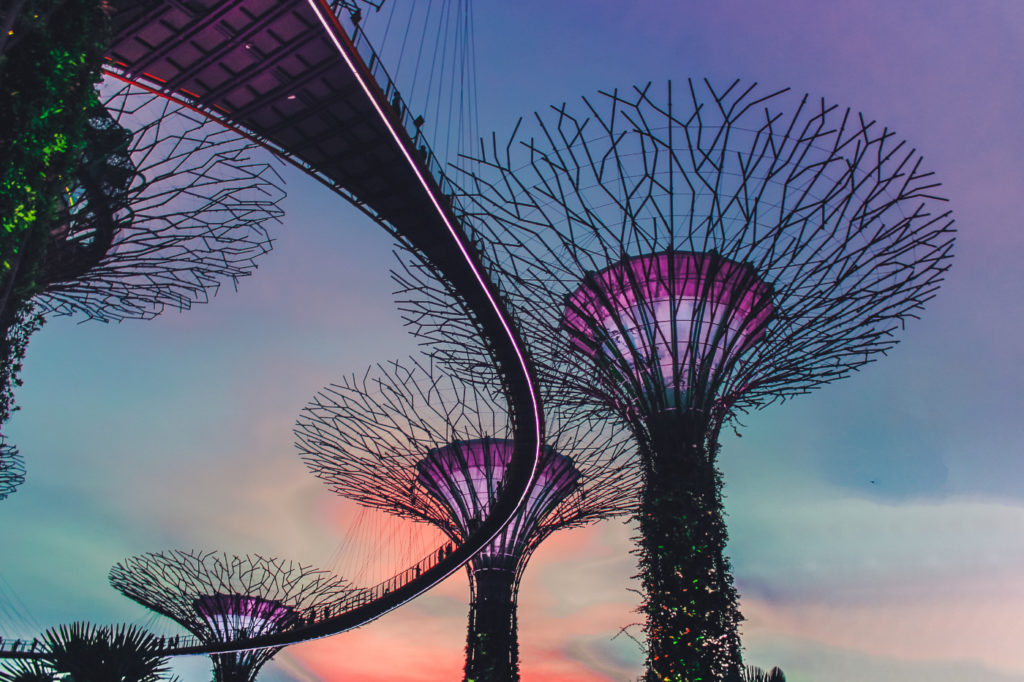 Stunning, unbelievable Gardens by the Bay in Singapore.