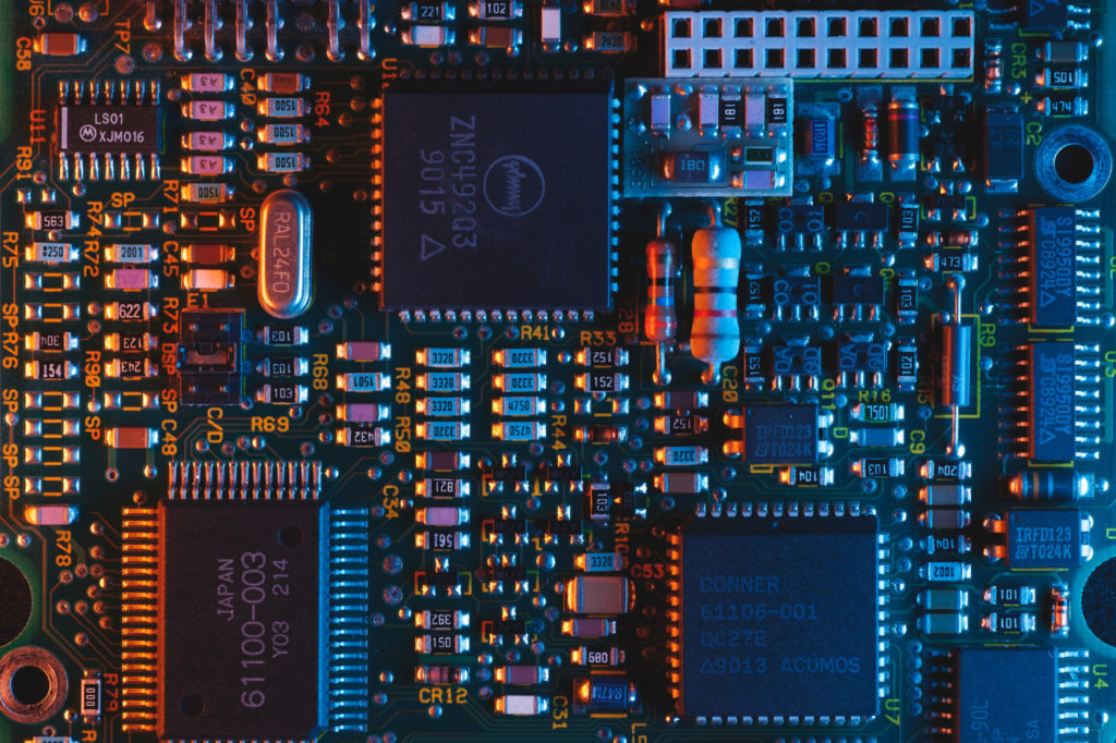 Incredibly complex electronic circuit board.