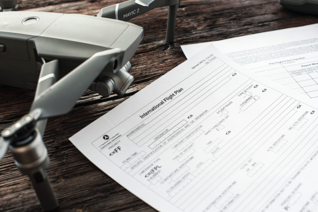 A paper form document on a desk.