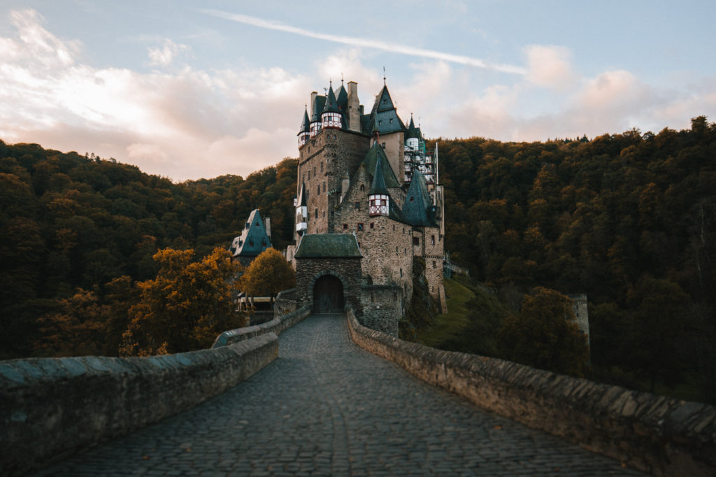 A road that leads to a castle.